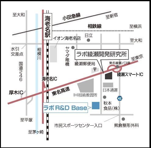 LABO R&D Base 地図